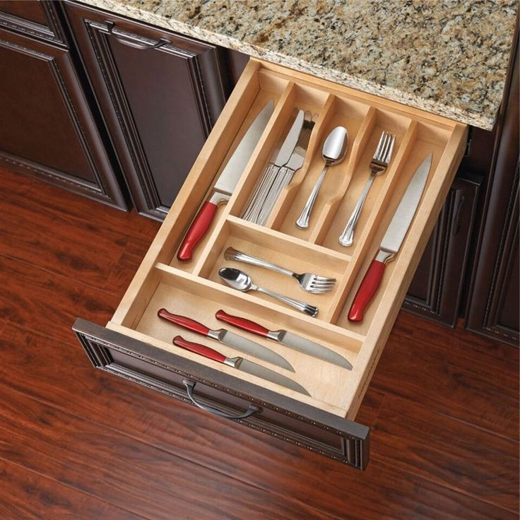 Rev-A-Shelf 4WCT-1 Cut-to-size Cutlery/Kitchen Utensil Drawer Insert Separator/Organizer