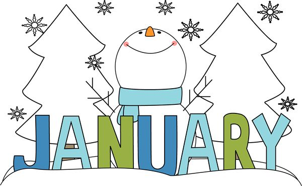 Free Month Clip Art   Month of January Snowman Clip Art Image ...