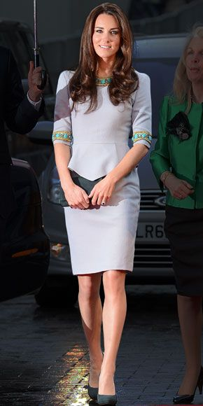 04/26/12: A year after she walked down the asile, #KateMiddleton continues to wow in her pretty designs! #lookoftheday http://www.instyle.com/instyle/celebrities/lotdpopup/0,,20590509_21152023,00.html