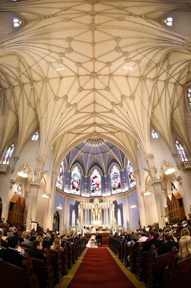 A swoon-worthy church wedding