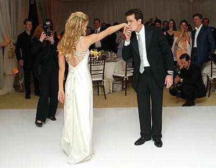 celebrity wedding - Charlie sheen & Denise richards