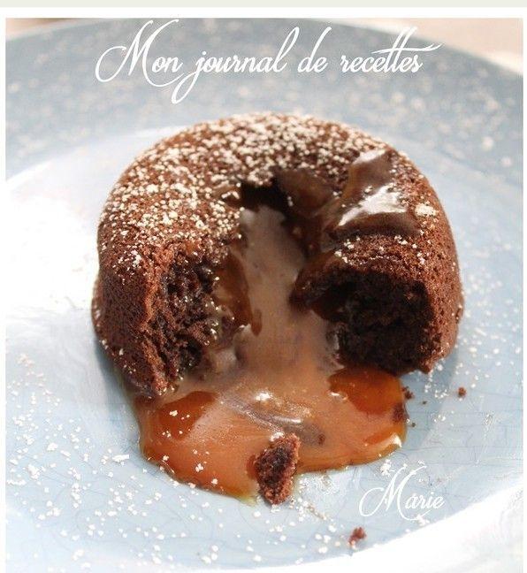 ...coeurs coulants au caramel, réalisés au cook Expert de Magimix. (ou sans) Pour les coeurs coulants au caramel : 70 g de sucre en poudre 50 ml de crème liquide 40 g de beurre demi-sel Pour les moeulleux au chocolat : 100 de chocolat noir 100 de beurre...