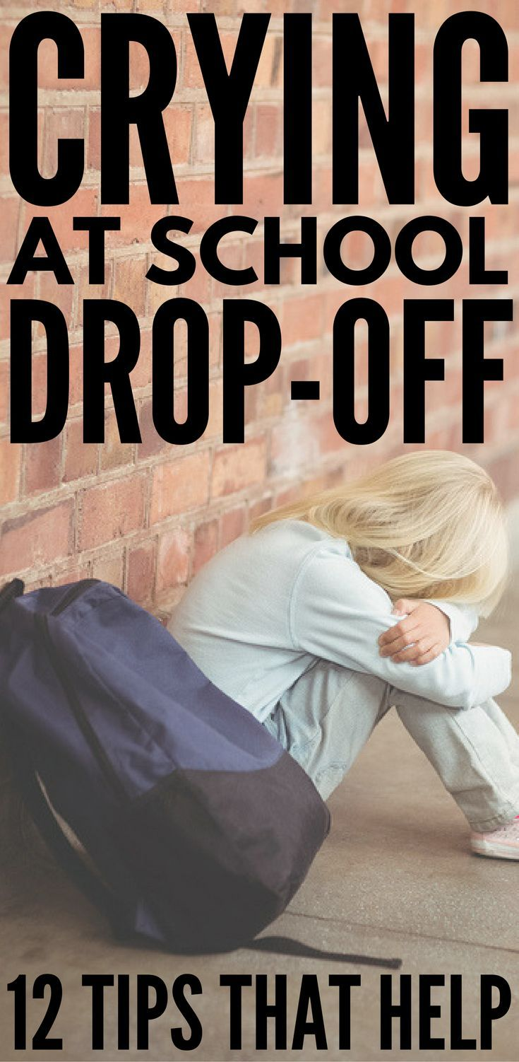 how to stop child crying at school drop off