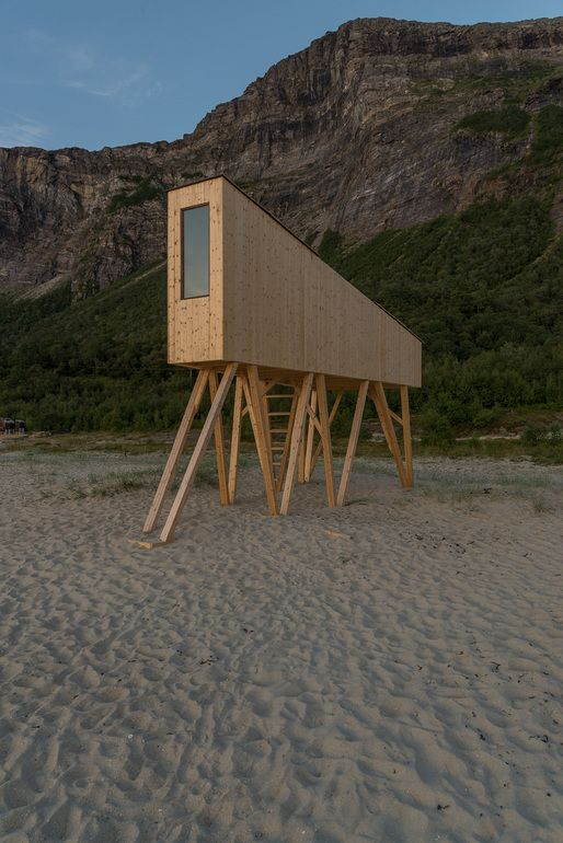 Like a dog at the beach, this tiny structure looks like it wants to play! | SALT festival celebrates arctic architecture in Sandhornøy, Norway | News | Archinect | Tiny Homes