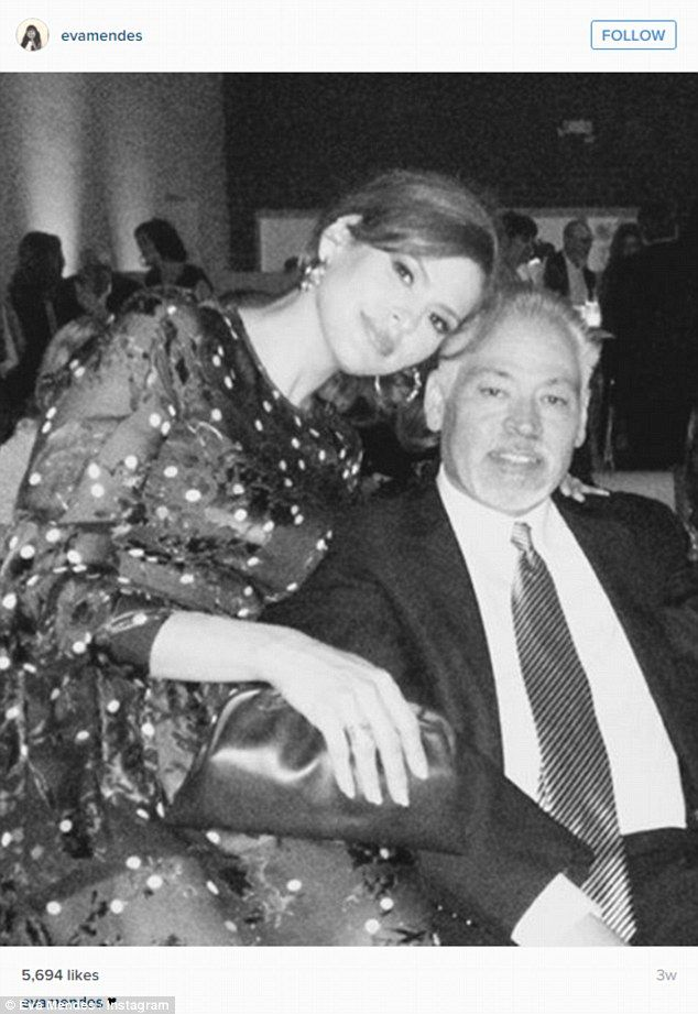 Sad goodbye:Eva Mendes' brother Carlos has passed away at the age of 53 after a long battle with cancer