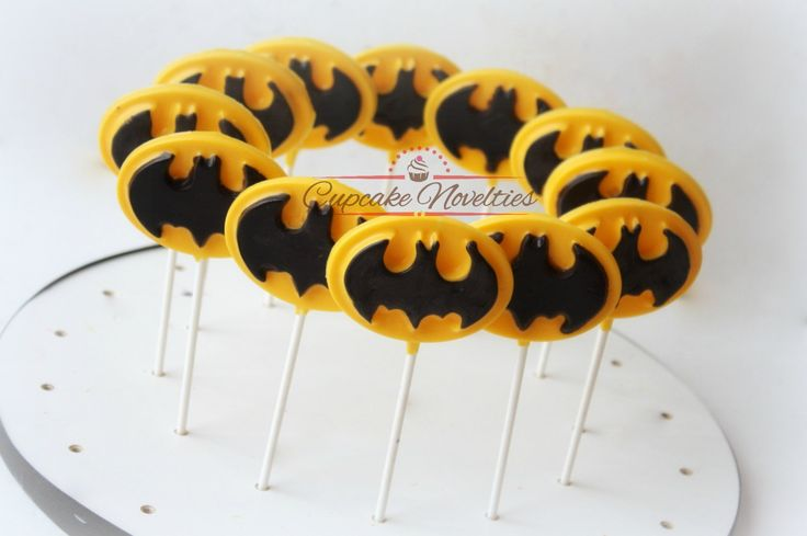 Buy Online! Delicious Chocolate Pops are perfect for a Batman Birthday Party, Batman Party Favors, Batman Dessert Table treats or Batman themed Goody bag surprise!
