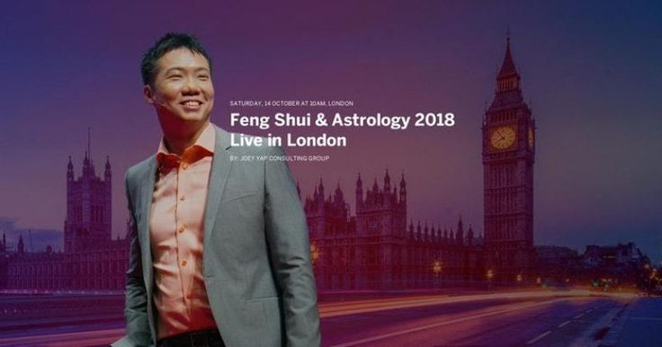 Dato' Joey Yap will be conducting the annual Feng Shui & Astrology (FSA) 2018 seminar LIVE in London, this coming October 2017. Get an outlook of 2018 and the opportunities hidden at curves and edges ahead.