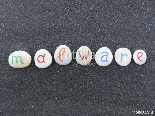 """Download the royalty-free photo """"Malware, virus alert concept on colored and carved stones over volcanic black sand"""" created by Ciaobucarest at the lowest price on Fotolia.com. Browse our cheap image bank online to find the perfect stock photo for your marketing projects!"""