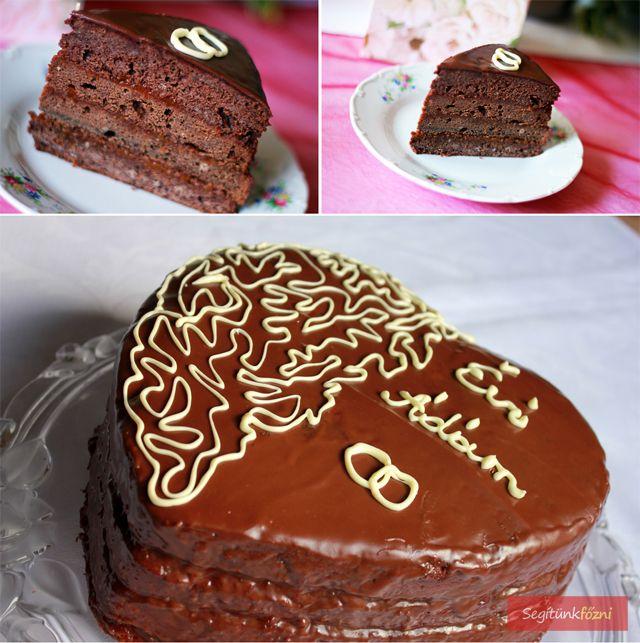 Eljegyzési sacher torta
