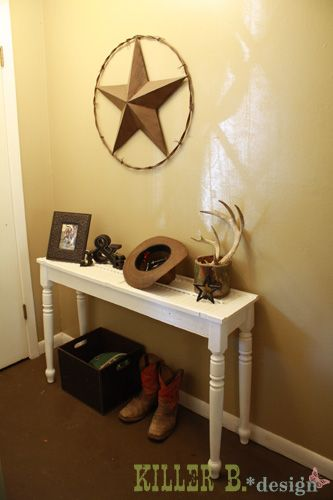 Shutter topped console table