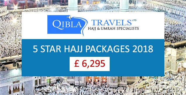 Qibla travels Ltd introduce 5 Star Hajj packages 2018 with best accommodation for UK Citizens at reasonable price.  Call Us for details: 020 3208 0000. #Hajj #Hajj2018 #Hajjpackages #Islam