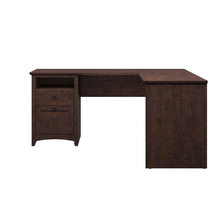 Bush Furniture Buena Vista L Desk In Madison Cherry Get Style Craftsmanship And A Distinctive Casual Look For The Home Or Office