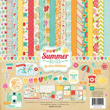 Echo Park - Summer Bliss Collection - 12 x 12 Collection Kit at Scrapbook.com