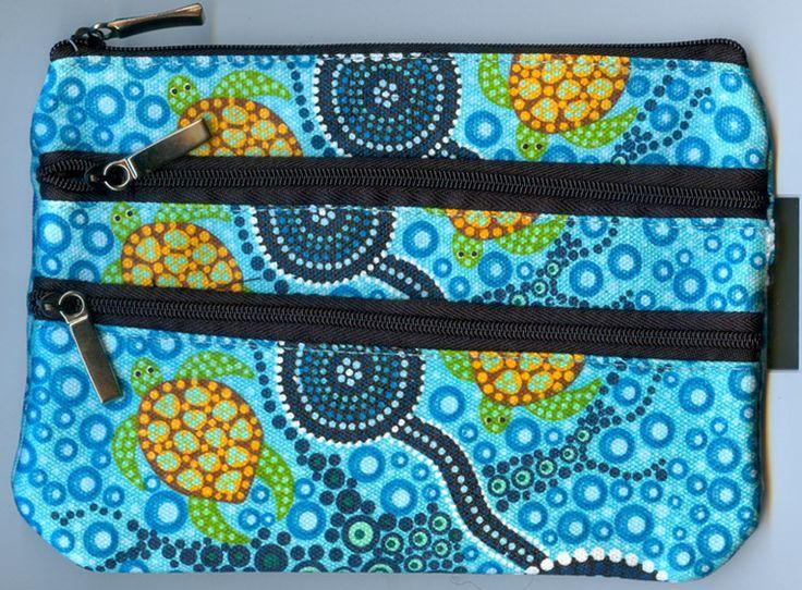 Bunabiri 3Z Cosmetic Bag Colin Jones (Turtles - Blue) Code: CJ-COS-3Z-3 Price: $14.00 or 2 for $26.00