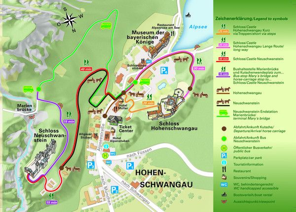 Neuschwanstein Hotels & Events: Local map