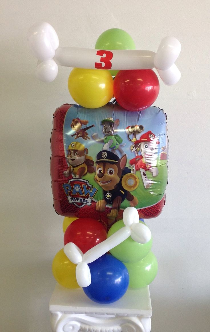 Best paw patrol images on pinterest balloon animals