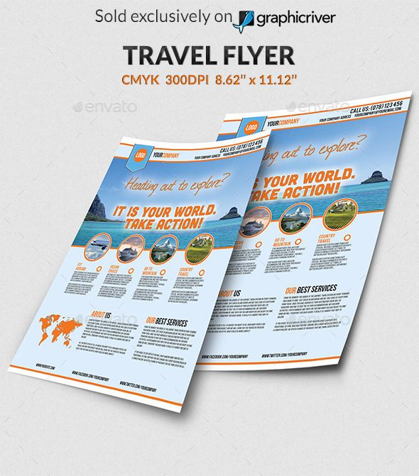 Best Travel Agency Flyers Images On   Booklet Printing