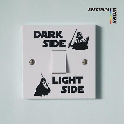Star Wars, Light Switch Sticker , Darth Vader, Luke Skywalker, Bedroom, Fun  no.2♦️ SMS - F A S H I O N 💢👉🏿 http://www.sms.hr/products/star-wars-light-switch-sticker-darth-vader-luke-skywalker-bedroom-fun-no-2/ US $0.60