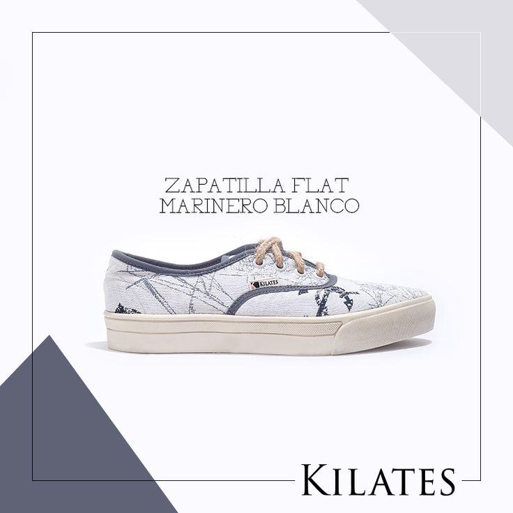 Zapatilla Flat Marinero Blanco