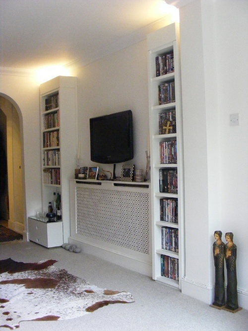 Radiator Cover With Tv Over Small Snugs Living Room