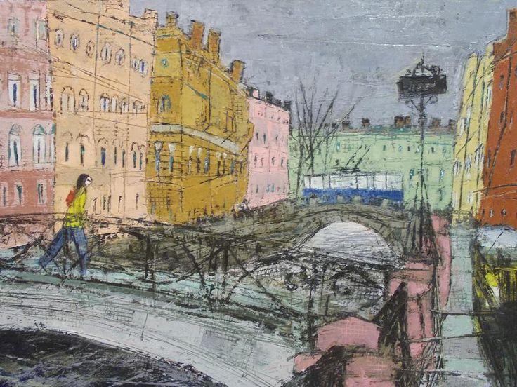St. Petersburg. Alexander Volkov (b. 1964)_Александр Волков (родился в 1964 году). Два моста.