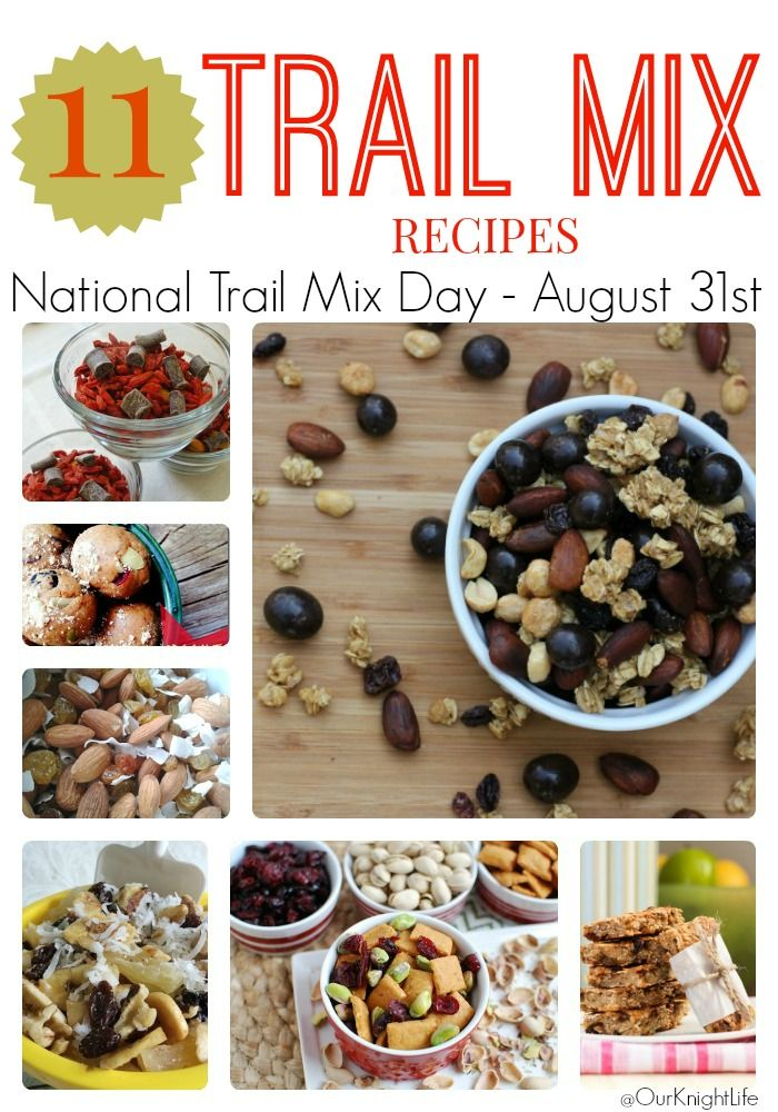 Happy National Trail Mix Day | 11 Trail Mix Recipes | Our Knight Life