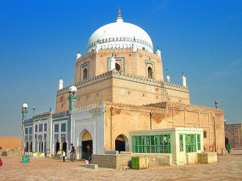 Shrine of Baha'uddin Zakariya (d. 1267 CE) Suhrawardi tariqa, he was the shaykh of Fakhr al-Din 'Iraqi  (Multan, Panjab, Pakistan)