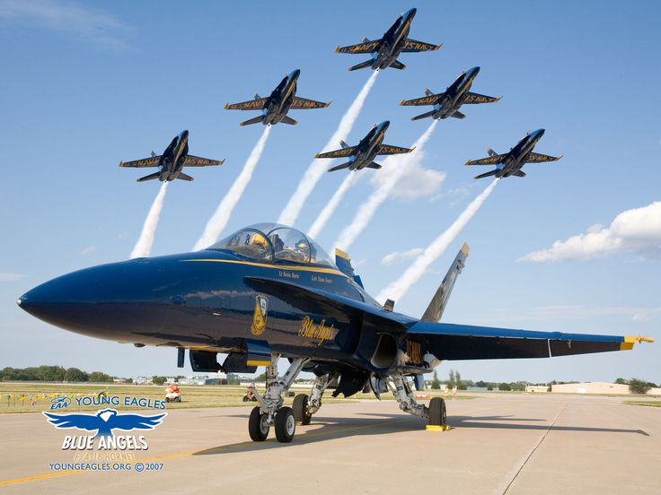 The realF/A-18 Hornet is a military jet and has been used by the U.S. Navy Blue Angels for aerial demonstration since 1986.