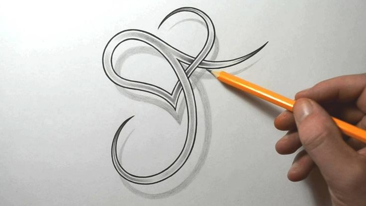 Designing a Stylized J with a Heart - Letter Tattoo Designs