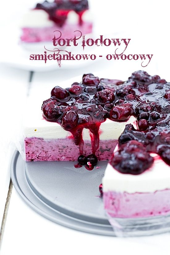Tort lodowy owocowy   A simple ice cream cake with the addition of a mixture of fruits