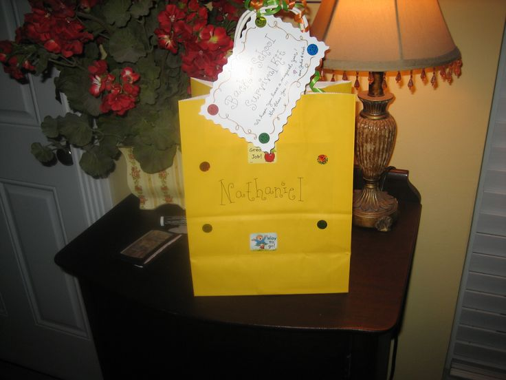 Back to School Survival Kit for my neighbor, Nathaniel!