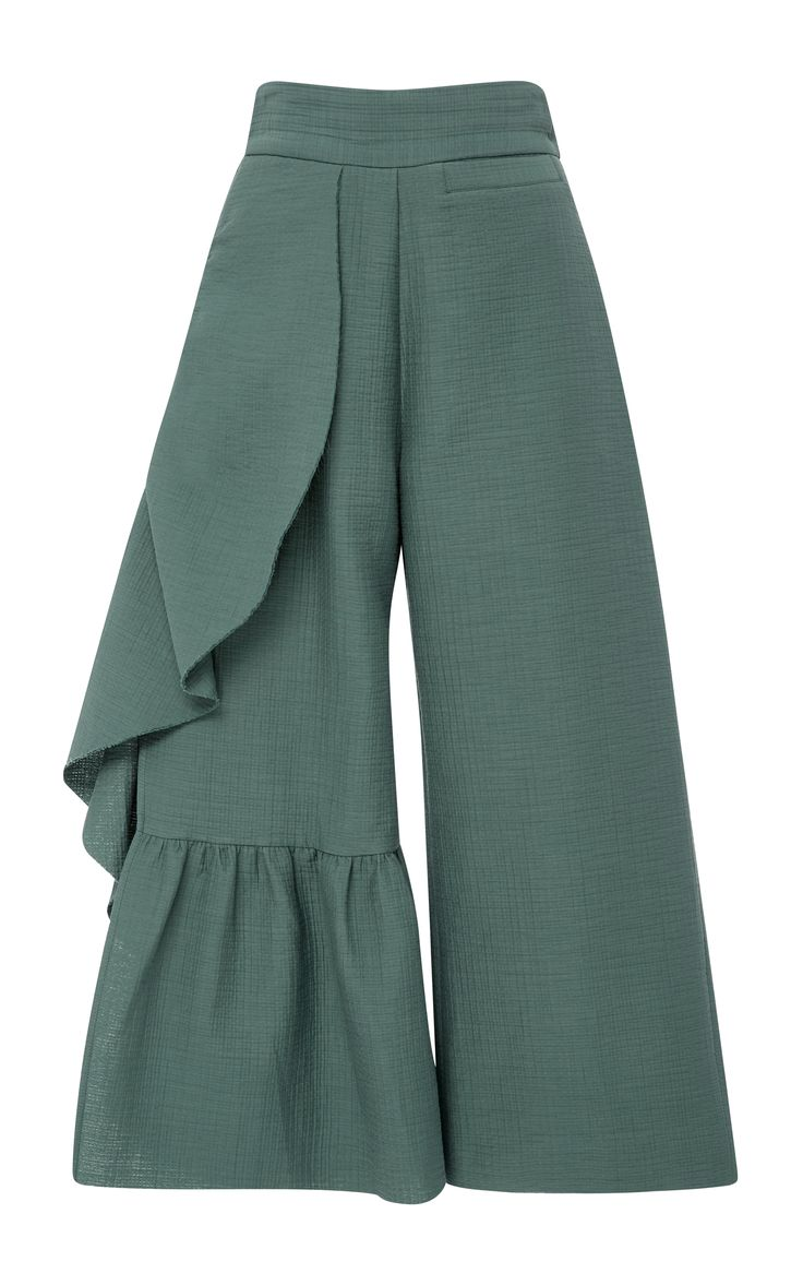 Cropped Ruffle Revel Pants by RACHEL COMEY Now Available on Moda Operandi