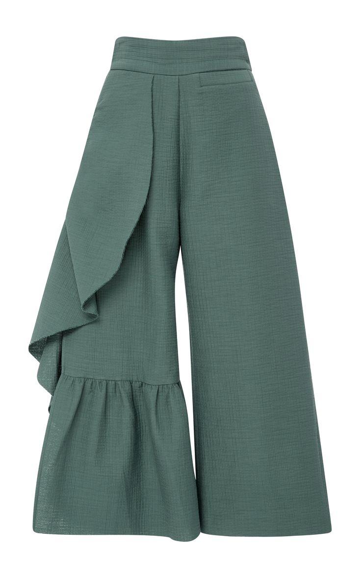 Cropped Ruffle Revel Pants by RACHEL COMEY Now Available on Moda Operandi