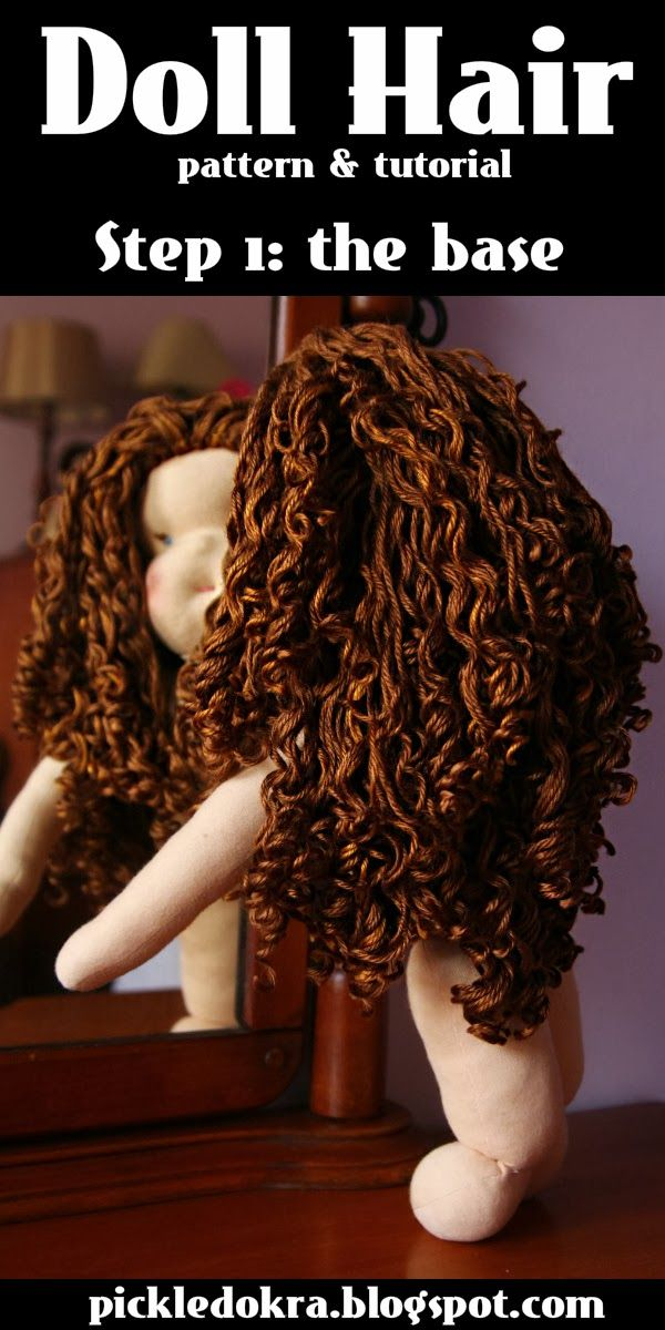 Pickled Okra:: Doll Hair: pattern & tutorial 1