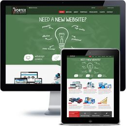 Vortex Global Services Company website built with PHP/HTML, JQuery using a responsive web design.