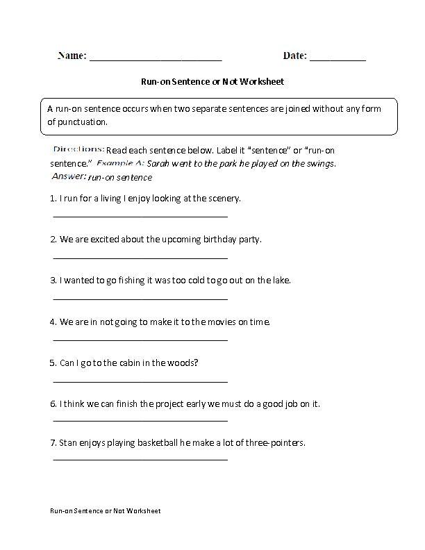 run on sentence or not worksheet board pinterest worksheets a sentence. Black Bedroom Furniture Sets. Home Design Ideas