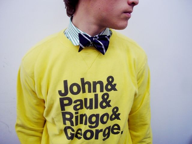 Close Up and Private: The Beatles, Yellow Submarines, Bows Ties, Awesome Shirts, Style, Bow Ties, Beatles Shirts, Men Fashion, Bowties