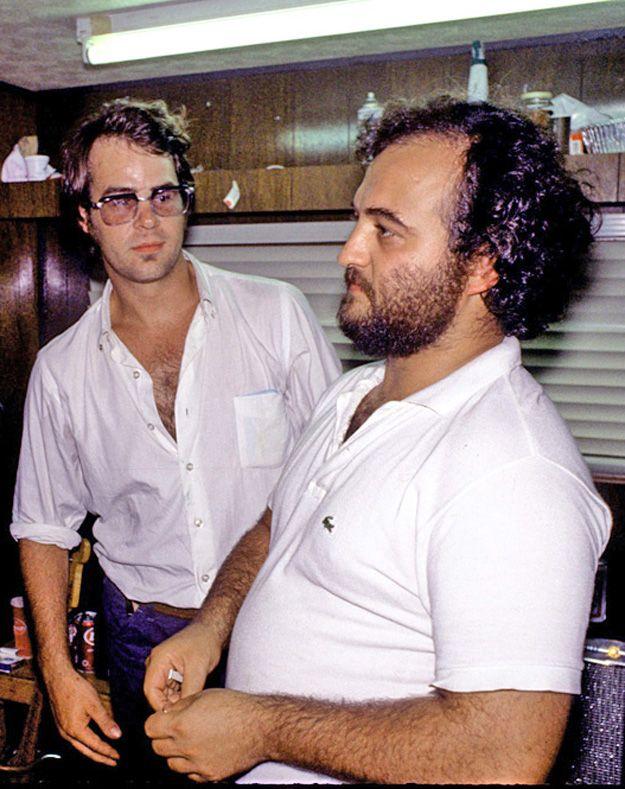 Ex fellow SNL-ers: Dan Aykroyd and the late John Belushi. (aka. Elwood & Jake Blues)