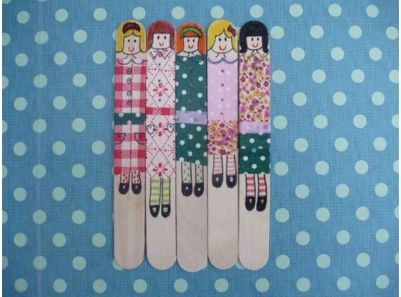 The cutest washi tape dolls image