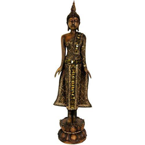 22.5 Inch Standing Thai Buddha Statue, Width - 5 Inches