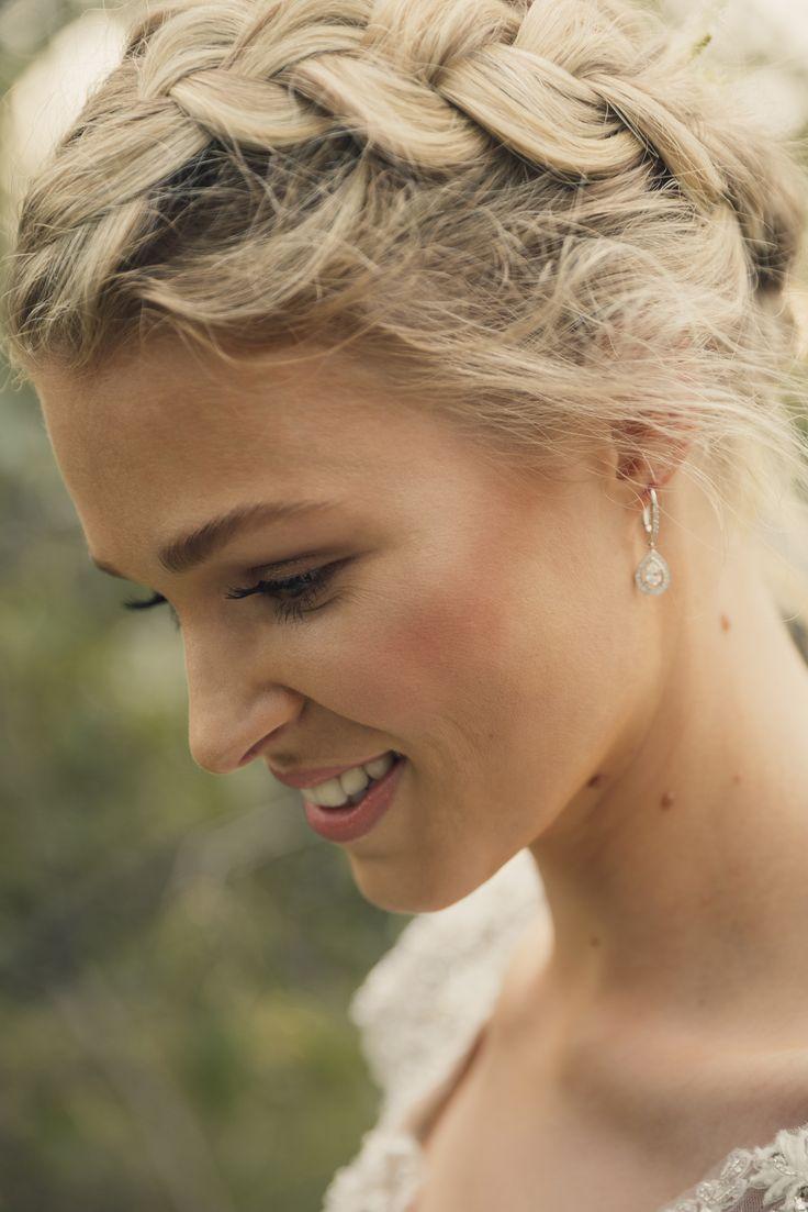 BRIDAL HAIR & MAKEUP - Soft glowing natural makeup & a romantic updo.