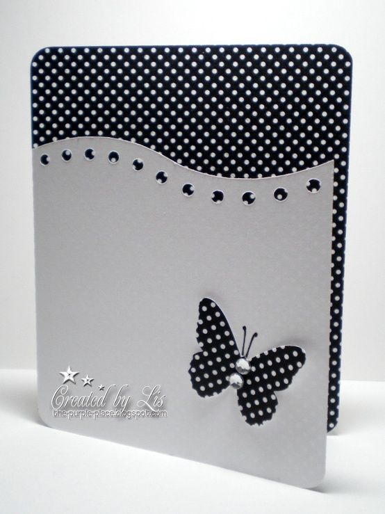 Simple black and white card