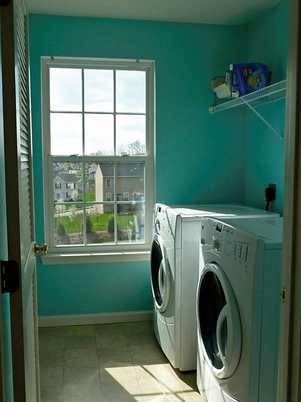Paint Color: Behr River's Edge need to see with more light... Laundry room?