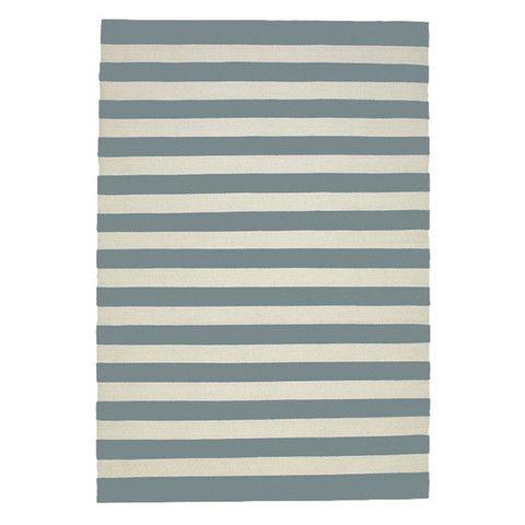 Cotton Striped Floor Rug, Cool Grey + Milk | LET LIV