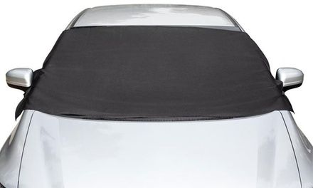 This windshield cover provides durable and longlasting protection from snow, ice, and frost