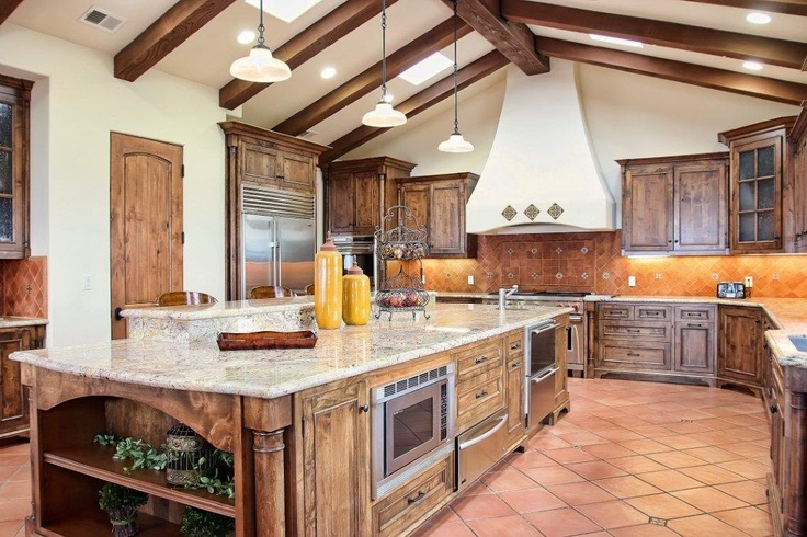 Spanish revival kitchen kitchen pinterest spanish for Kitchen cabinets in spanish