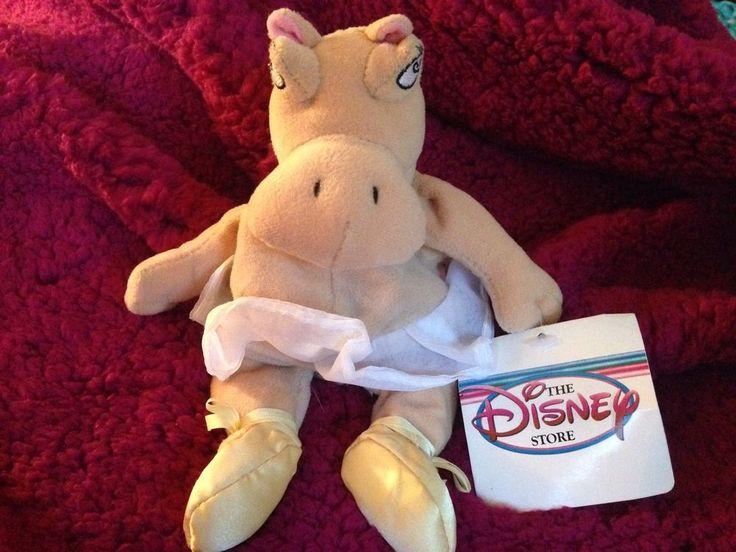 Disney Store Fantasia Hyacinth Hippo Ballerina Beanbag