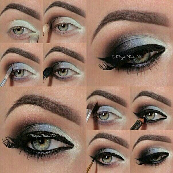 Step by step night-out makeup