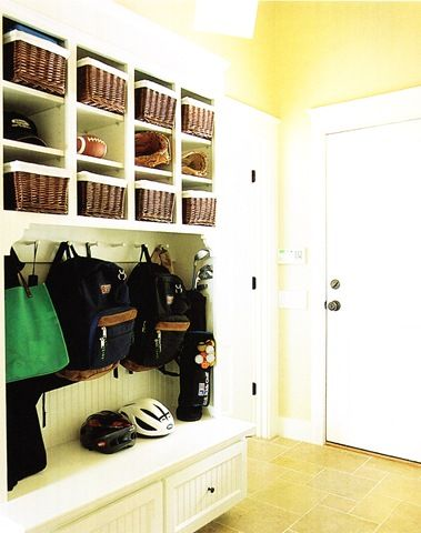 Mud rooms: Lakes House, Dreams, Front Rooms, Mudrooms, Mud Rooms, Laundry Rooms, Rooms Ideas, Baskets, Mudroom Ideas