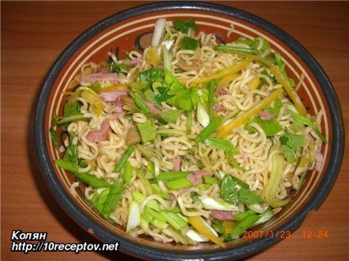 Суп из лапши и риса